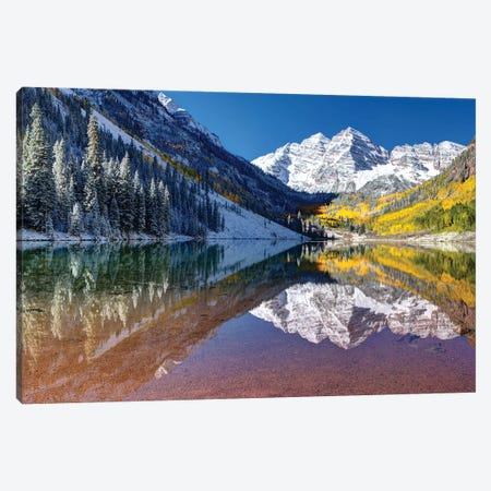 Maroon Bells Panorama Canvas Print #OLE89} by OLena Art Canvas Print
