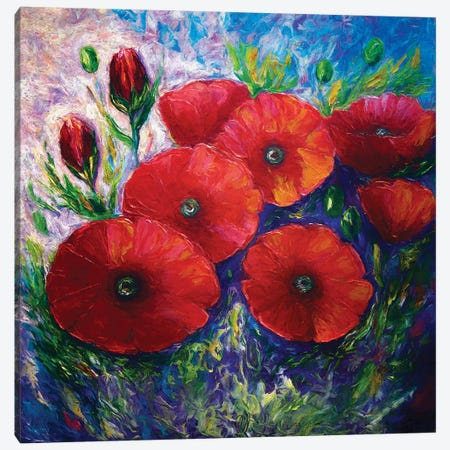 Bella Fresca Poppies Canvas Print #OLE8} by OLena Art Canvas Artwork