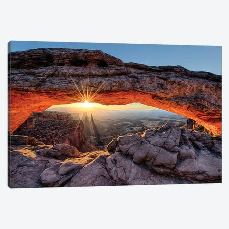 Mesa Arch Sunrise Canvas Print #OLE90} by OLena Art Canvas Art