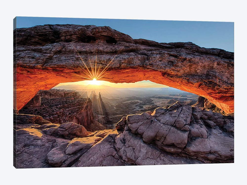 Mesa Arch Sunrise by OLena Art 1-piece Canvas Wall Art