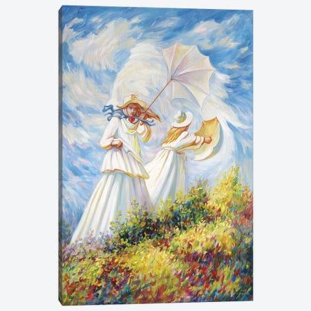 Monet Windy Day Canvas Print #OLG2} by Oleg Shupliak Canvas Artwork