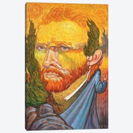 Van Gogh Double Portrait 3-Piece Canvas #OLG4} by Oleg Shupliak Canvas Print