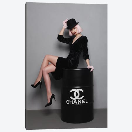 Chanel Fuel II Canvas Print #OLH9} by Olha Stepanian Canvas Art Print