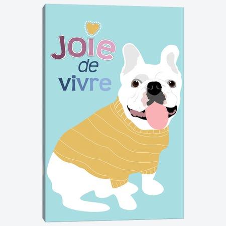 French Bulldog Joie De Vivre Canvas Print #OLI11} by Ginger Oliphant Canvas Art
