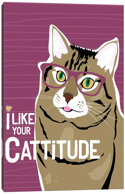 I Like Your Cattitude Canvas Art Print