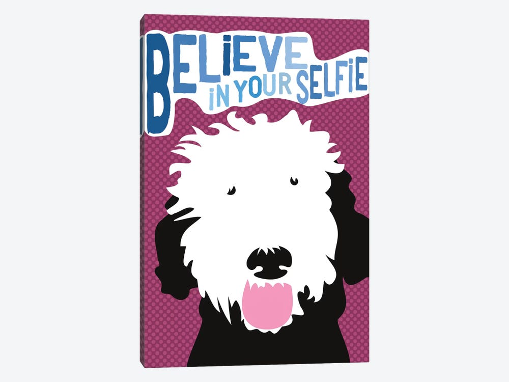 Believe In Your Selfie by Ginger Oliphant 1-piece Canvas Art Print