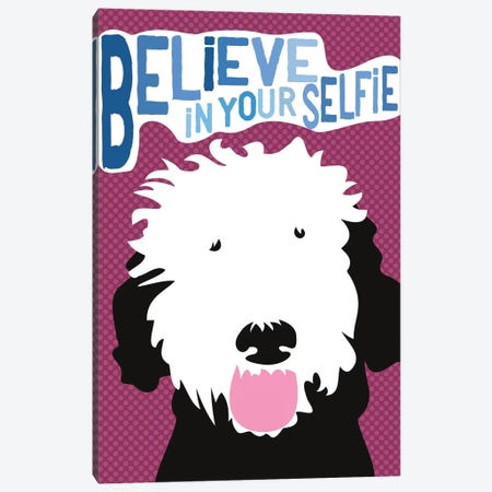 Believe In Your Selfie Canvas Print #OLI2} by Ginger Oliphant Canvas Wall Art