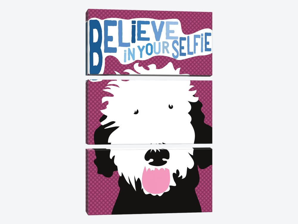Believe In Your Selfie by Ginger Oliphant 3-piece Canvas Art Print