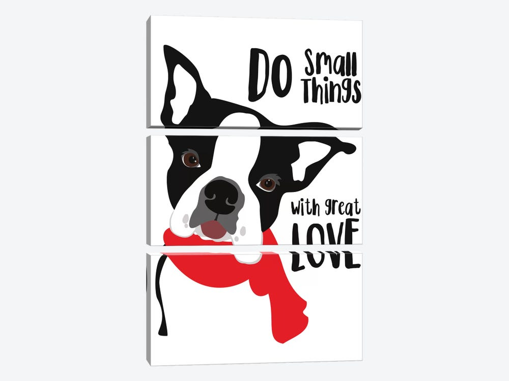 Do Small Things With Great Love by Ginger Oliphant 3-piece Canvas Print