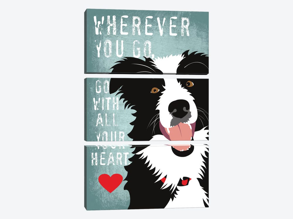 Go With All Your Heart by Ginger Oliphant 3-piece Canvas Print