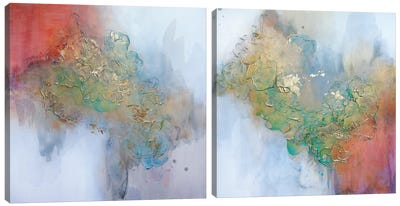 Don't Stop Blooming Diptych Canvas Art Print