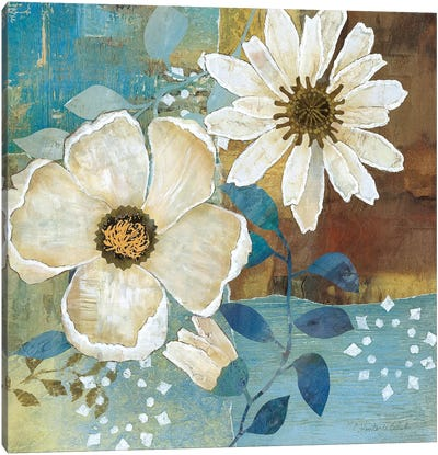 Flowers at Dawn II Canvas Art Print