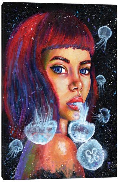 Jellyfish Sketch Canvas Art Print