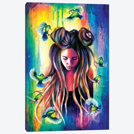 Colibri Nest Canvas Print #OLU10} by Olesya Umantsiva Canvas Art