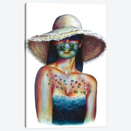 Smile, we're not going anywhere Canvas Print #OLU124} by Olesya Umantsiva Canvas Wall Art