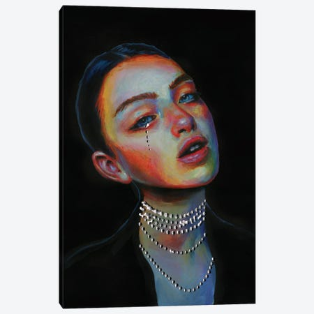 Black pearl Canvas Print #OLU129} by Olesya Umantsiva Canvas Print