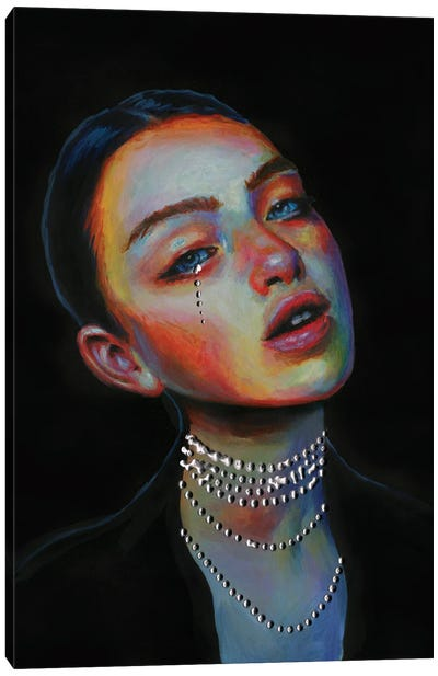 Black pearl Canvas Art Print