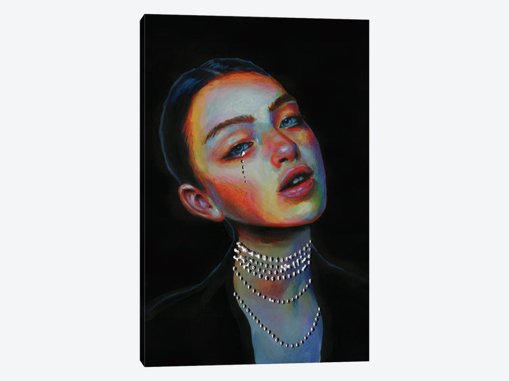 Black pearl by Olesya Umantsiva 1-piece Canvas Art Print