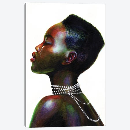 White pearl Canvas Print #OLU130} by Olesya Umantsiva Canvas Artwork