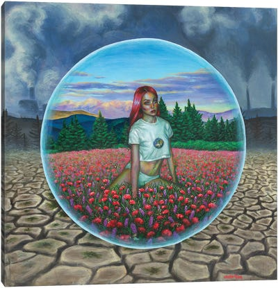 In The Bubble Canvas Art Print