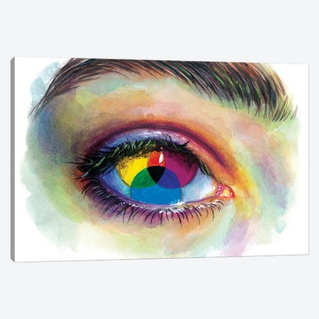 Eye Of An Artist Canvas Print #OLU18} by Olesya Umantsiva Canvas Artwork