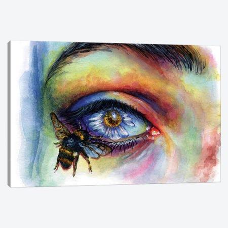 Flower Eye Canvas Print #OLU20} by Olesya Umantsiva Canvas Print