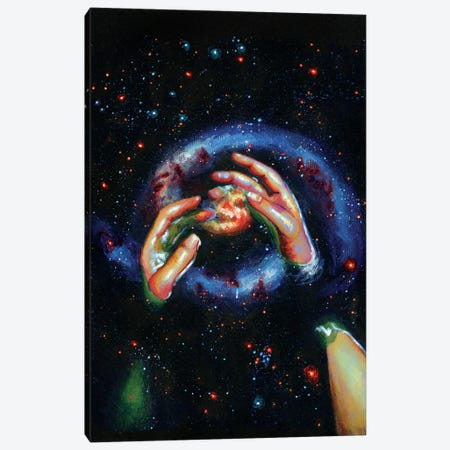 Galaxy Canvas Print #OLU22} by Olesya Umantsiva Canvas Print