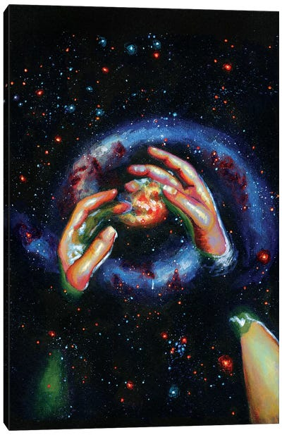 Galaxy Canvas Art Print
