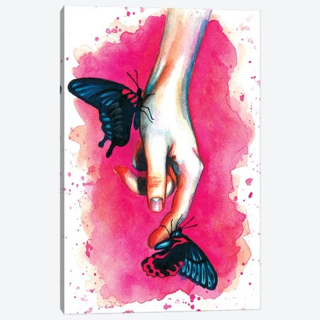 Hand Canvas Print #OLU24} by Olesya Umantsiva Canvas Art