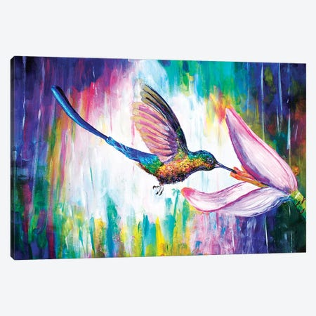 Hummingbird Canvas Print #OLU27} by Olesya Umantsiva Canvas Art