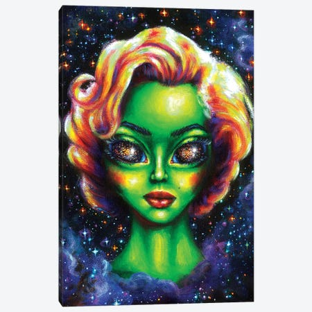 Iconic Alien Women. Marilyn Canvas Print #OLU29} by Olesya Umantsiva Canvas Art Print