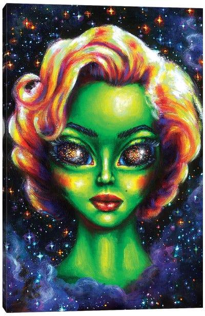Iconic Alien Women. Marilyn Canvas Art Print