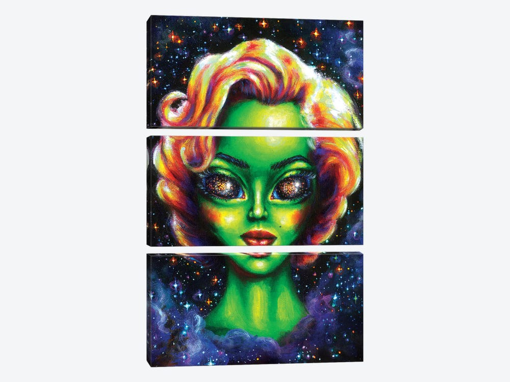 Iconic Alien Women. Marilyn by Olesya Umantsiva 3-piece Art Print