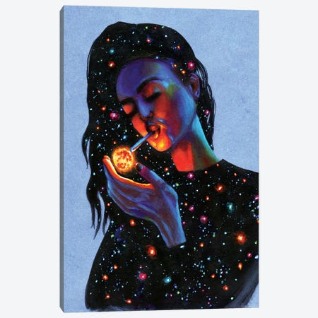 Ask The Universe Canvas Print #OLU2} by Olesya Umantsiva Art Print