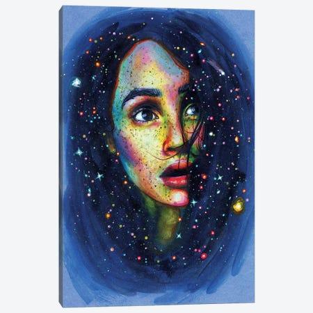 Shooting Star Canvas Print #OLU53} by Olesya Umantsiva Canvas Art
