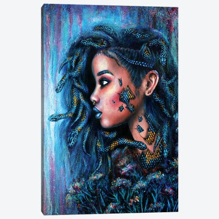 Snake Charmer Canvas Print #OLU55} by Olesya Umantsiva Canvas Art Print