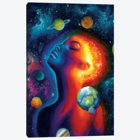 Spaced Out Canvas Print #OLU57} by Olesya Umantsiva Canvas Art Print