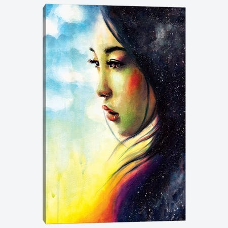 Sunrise 3-Piece Canvas #OLU61} by Olesya Umantsiva Canvas Print