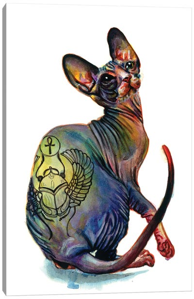 Tattooed Sphynx Canvas Art Print