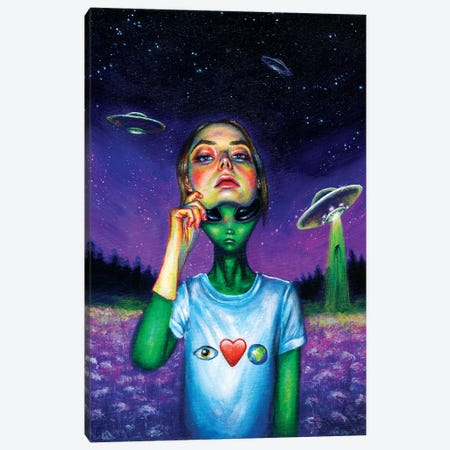Undercover Canvas Print #OLU69} by Olesya Umantsiva Art Print