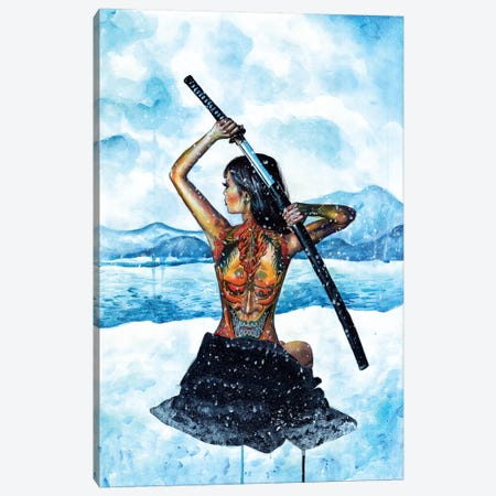 Warrior Canvas Print #OLU74} by Olesya Umantsiva Art Print