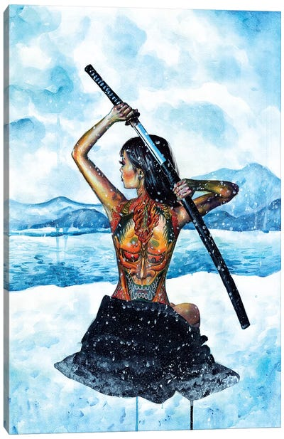 Warrior Canvas Art Print