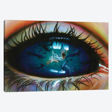 Into The Blue Canvas Print #OLU89} by Olesya Umantsiva Canvas Print