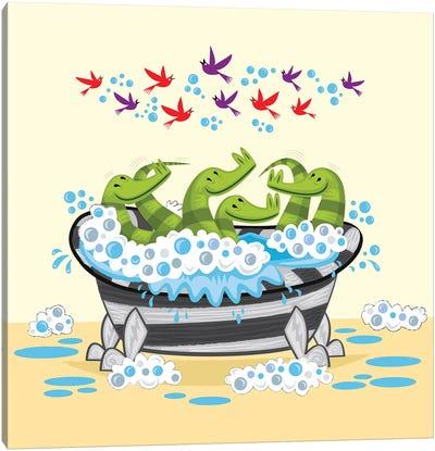 Crocodile Soup Canvas Art Print