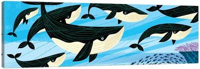 Whale Swim Canvas Art Print