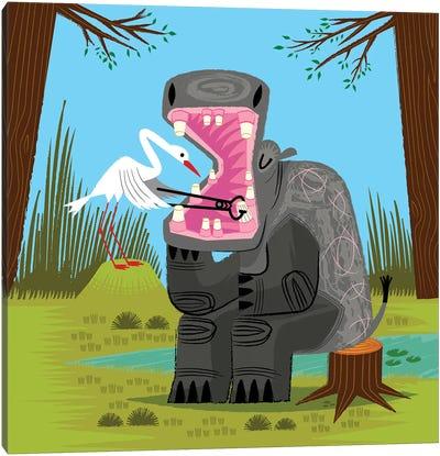 Hippopotamouth Canvas Art Print