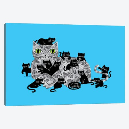 Kitten Litter Canvas Print #OLV22} by Oliver Lake Canvas Wall Art