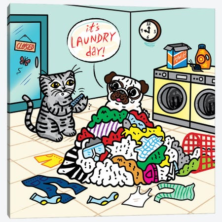 Laundry Day Canvas Print #OLV23} by Oliver Lake Canvas Artwork