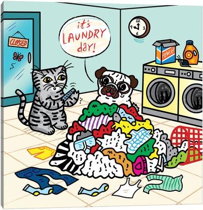 Laundry Day Canvas Art Print