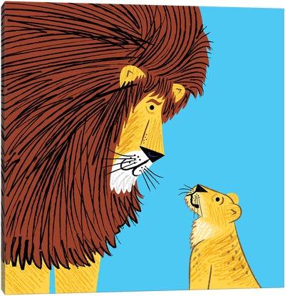 Listen To The Lion Canvas Art Print